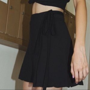 Brandy Melville Black Wrap Skirt